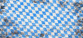 Oktoberfest background with blue and white rhombus pattern Royalty Free Stock Photo