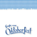Oktoberfest 2017 background with ripped paper