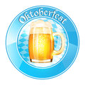 Oktoberfest banner with beer mug vector illustration Stock Image