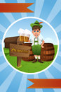 Oktoberfest banner a vector illustration of design Royalty Free Stock Photography