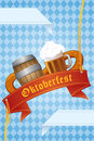 Oktoberfest banner a vector illustration of design Royalty Free Stock Images
