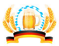 Oktoberfest banner with wheat ears vector illustration Royalty Free Stock Photography