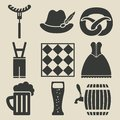 Oktoberfest beer festival icons set vector illustration eps Royalty Free Stock Photography