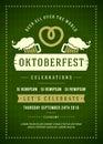 Oktoberfest beer festival typographic poster