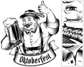 Oktoberfest Beer Holiday Man Germany Glass Foam Thumb Ink Monoch
