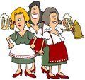 Oktoberfest Beer Maidens Royalty Free Stock Photo