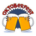 Oktoberfest beer mugs Stock Images