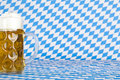 Oktoberfest beer stein with bavarian flag Stock Images