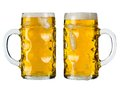 Oktoberfest beer stein or mass photo of two traditional bavarian glasses called clipping paths included Stock Image