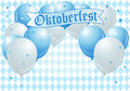 Oktoberfest celebration balloons background with copy Royalty Free Stock Image