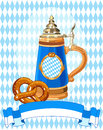 Oktoberfest celebration vertical background with copy space Royalty Free Stock Photo