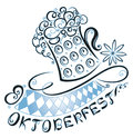 Oktoberfest decoration abstract with beer and flag Royalty Free Stock Photos