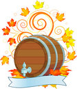 Oktoberfest design with keg Stock Photography