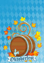 Oktoberfest design with keg Royalty Free Stock Photo