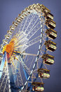 Oktoberfest famous ferris wheel at the in munich germany Royalty Free Stock Photos