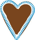 Oktoberfest Gingerbread Heart Royalty Free Stock Images