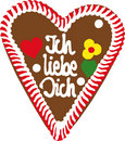 Oktoberfest Gingerbread Heart Royalty Free Stock Photos