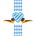Oktoberfest heart Bavaria Germany flag ribbon background