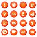 Oktoberfest icons vector set