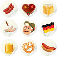 Oktoberfest Labels Royalty Free Stock Photography