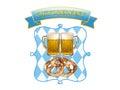Oktoberfest in Munich, beer, pretzels and bavaria colors