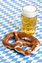 Oktoberfest Pretzel and Beer Stein called Royalty Free Stock Photo