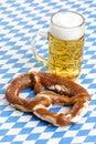 Oktoberfest Pretzel and Beer Stein called Royalty Free Stock Photo