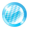 Oktoberfest round banner glossy button in bavarian colors Royalty Free Stock Photos