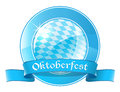 Oktoberfest round banner with ribbon vector illustration Stock Image