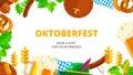 Oktoberfest vector background design. Octoberfest holiday banner
