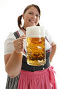 Oktoberfest Waitress Stock Images
