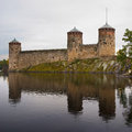 Olavinlinna castle Royalty Free Stock Photo