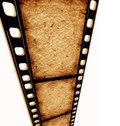 Old 35 mm movie Film Royalty Free Stock Images