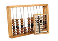Old abacus isolated antique on a white background Stock Photos