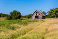 Old Abandonded  Barn in Rural Oklahoma Royalty Free Stock Photo