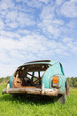 Old abandoned car rusty vintage Royalty Free Stock Image