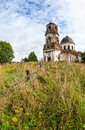 Old abandoned church in novgorod region russia Stock Image