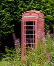 Old Telephone Booth in Scotland Royalty Free Stock Photo