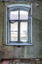 Old abandoned and forgotten building interior of a ruined house window Royalty Free Stock Photo