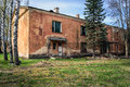 Old abandoned house in Daugavpils town, Latvia Royalty Free Stock Photo