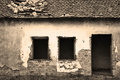 Old abandoned house in sepia Royalty Free Stock Photo