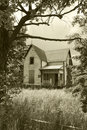 Old, Abandoned House in Sepia Stock Images
