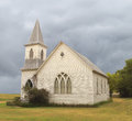 Old abandoned prairie church Royalty Free Stock Photo