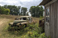 Old abandoned rustic car Royalty Free Stock Photo