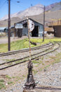Old abandoned train station, border with Argentina and Chile Royalty Free Stock Photo