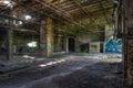 Old abandoned warehouse Royalty Free Stock Photo