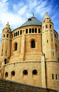 An old abbey in Jerusalem agains Royalty Free Stock Images