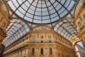 Old, acient, historic, shopping galeria in Milan Royalty Free Stock Photo