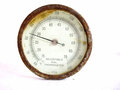 Old adjustable dial thermometer on white background Stock Photos