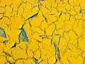 Old aged yellow painted surface background taken closeup as Royalty Free Stock Photo